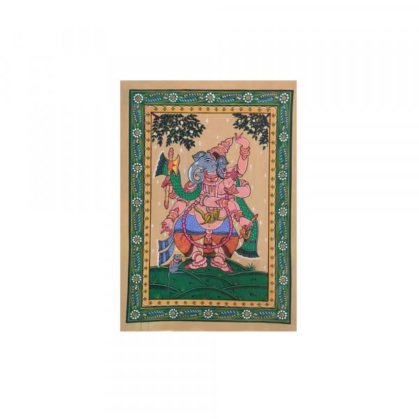 Pattachitra dancing ganesha goddess