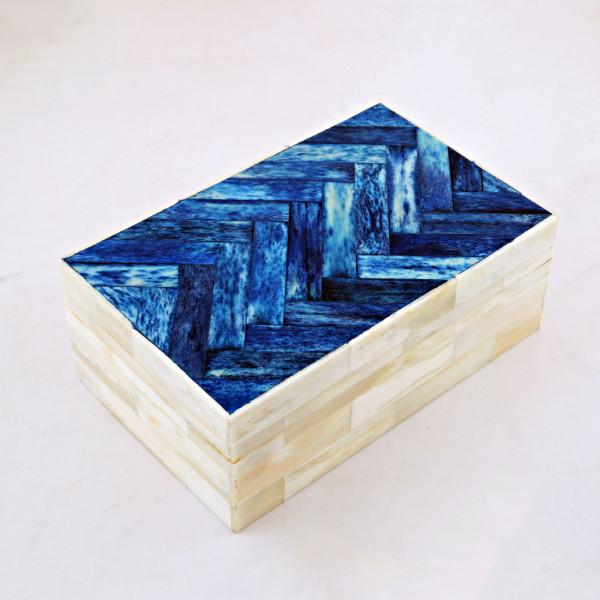 Amaan Trove Natural Bone Rectangular Jewelry Box