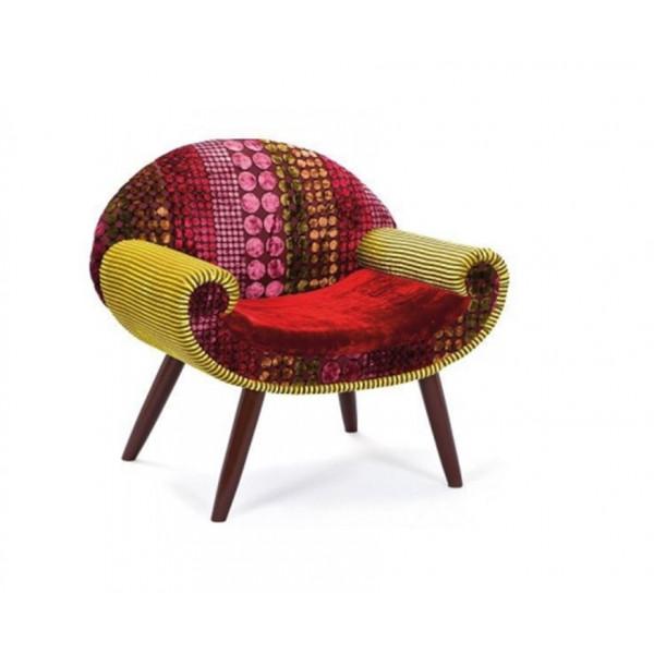 Om Shiv Shakti Atens Velvet Lounge Chair