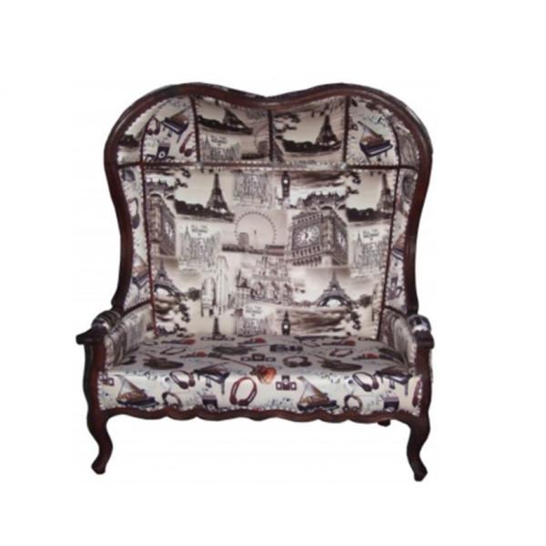 Om Shiv Shakti Stella 2 Seater High Back Sofa