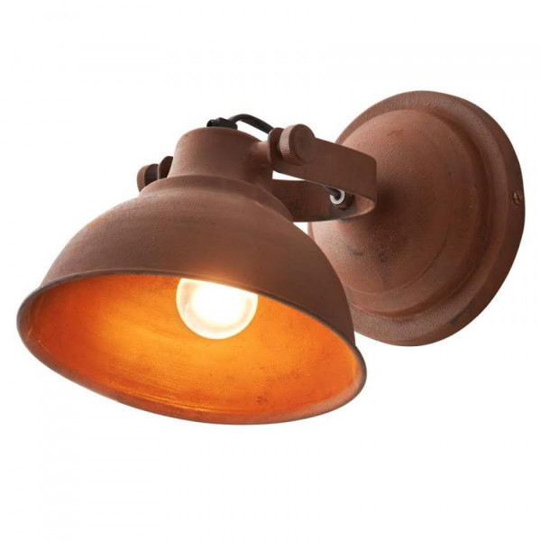 Articulated Wall Lamp with Light Brown Patina Finish