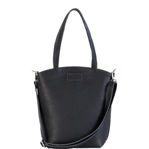 Ladies leather Bag solid black