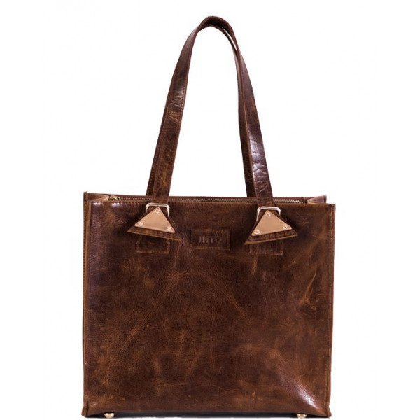Ladies leather Bag natural brown