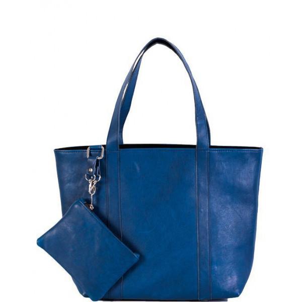 Ladies leather Bag navy blue