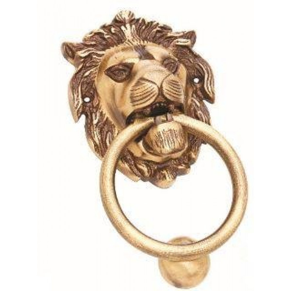 Kodia Real Lion 9 Antique Solid Brass Heavy Door Knocker