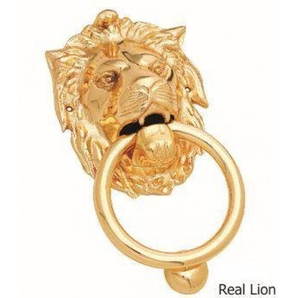 Kodia Real Lion 9 Fg Solid Brass Heavy Door Knocker