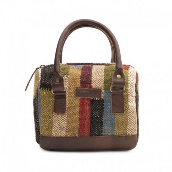 Multicolor Wool Jute Kilim Handbag