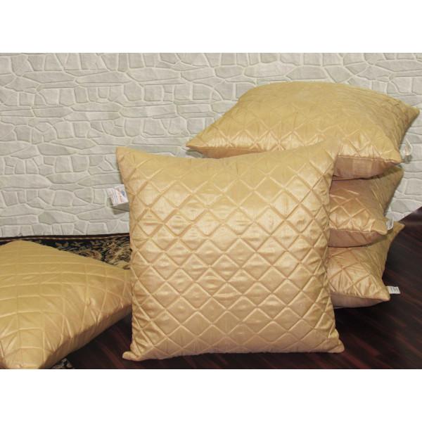 Zikrak Exim Set of 5 Poly Dupion Cushion Covers baze cross stitch embroidery  40X40 cm (16X16)