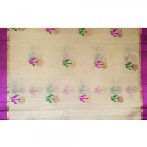 White kota saree including blouse
