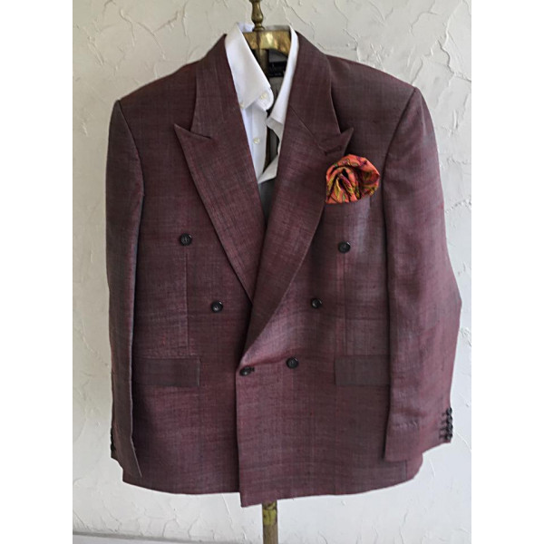 Khadi Suit Maroon Colora