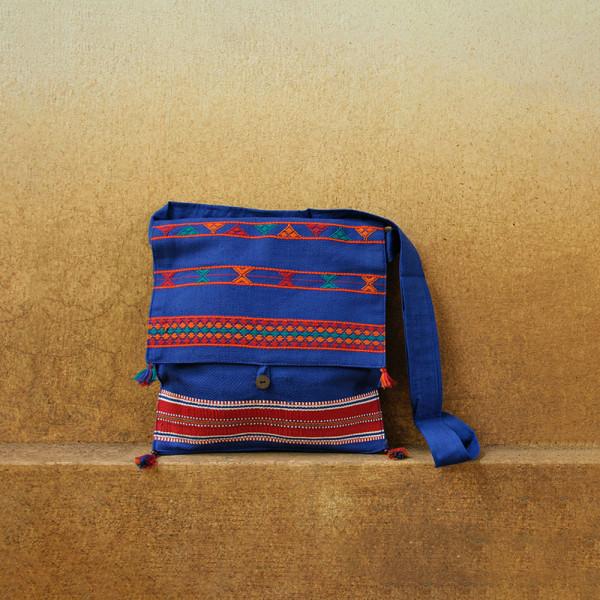 Blue Messanger bag square