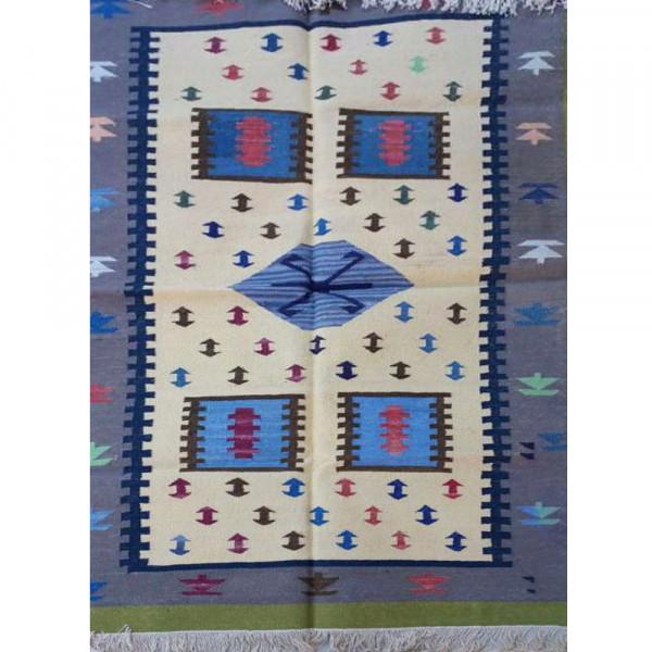 Multicolor Geometrical Cotton Dhurry