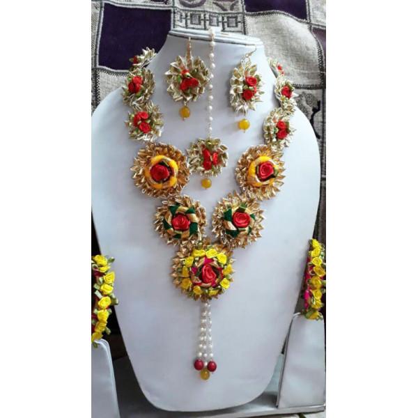 Gota Jewellery Necklace Set