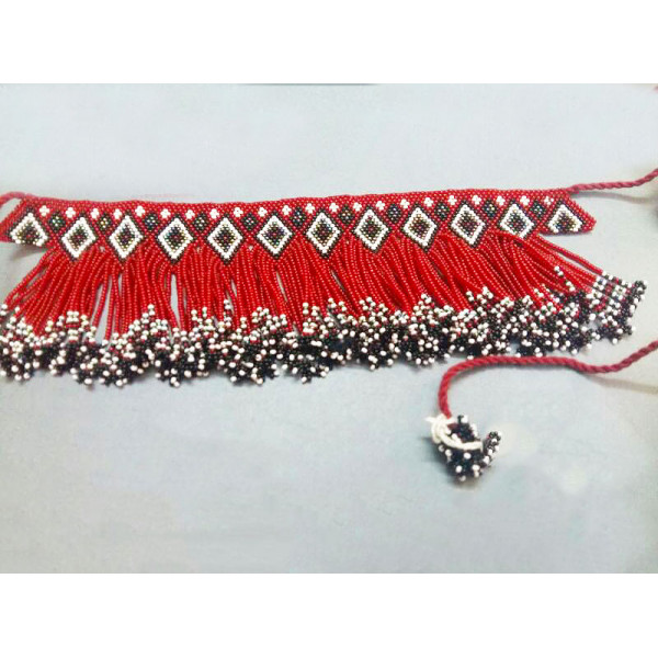 Beaded Red Necklace
