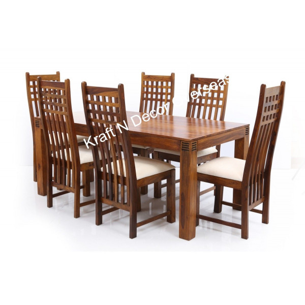 Contemporary Wooden Dining Table With Six Chairs Directcreate Com