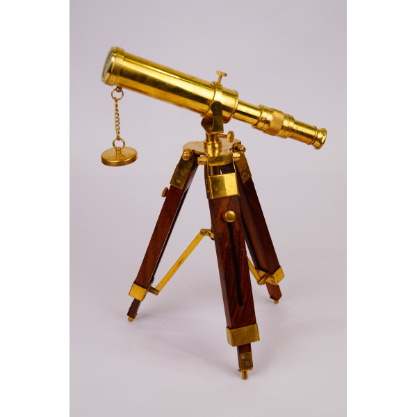 VINATGE TABLE TELESCOPE WITH BRASS LENS