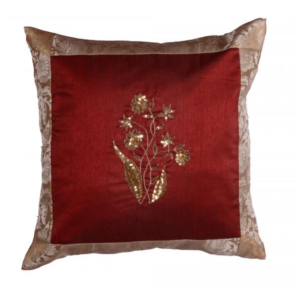 meSleep Hand Embroidery Cushion Cover (16x16)