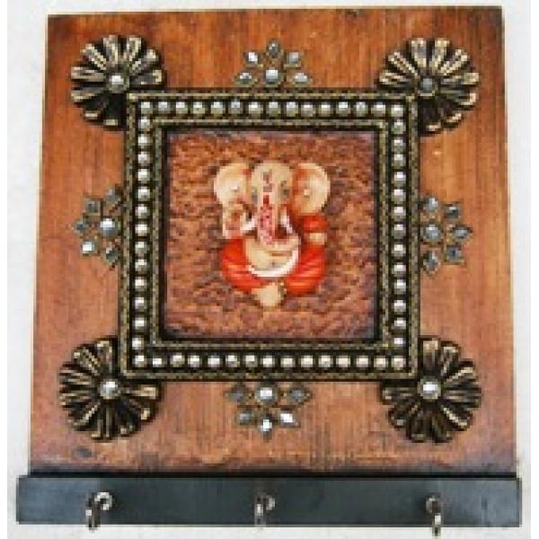 Framed ganesha key holder
