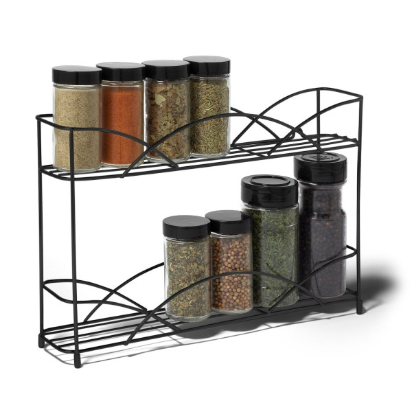 FabFull Kitchen Storage Rack 2 tier Black