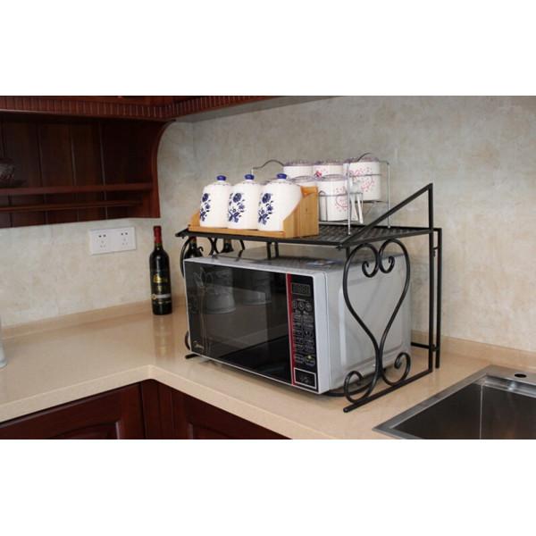 FabFull Metal Microwave oven shelf Black
