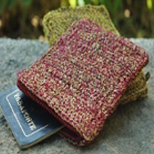 Handmade Crochet Banana Natural Fibre Passport Pouch