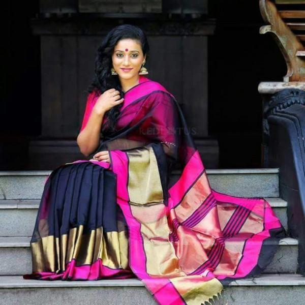 Warp work cotton silk multicolor wedding saree