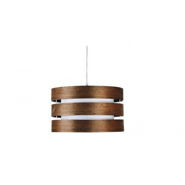 Wood 3-light Medium Walnut Pendant