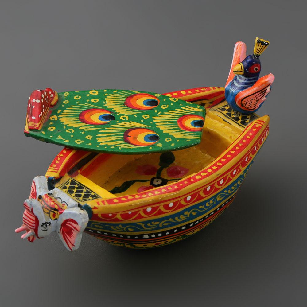Peacock Decorative Boat
