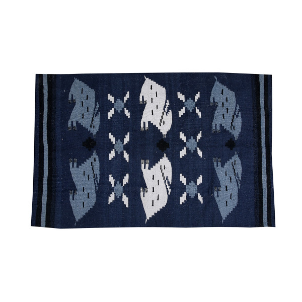 Dhurrie with Rabbit motif 3x5