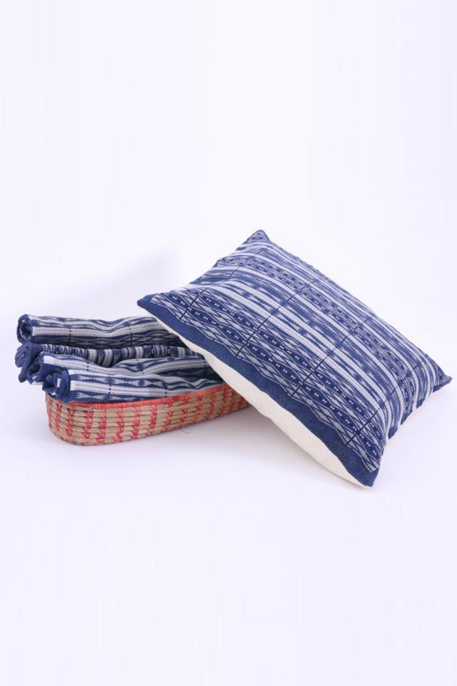 "Naga basket with naga cushion covers set of 4(16""x16"")"