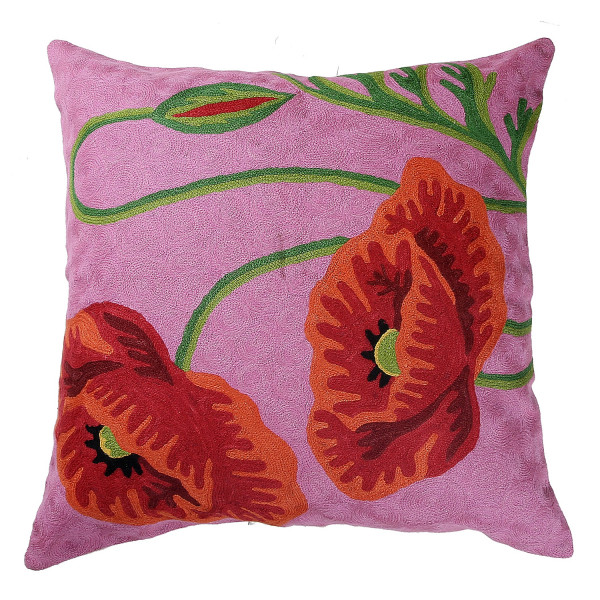 Crewel Work Cushion 24 x 24