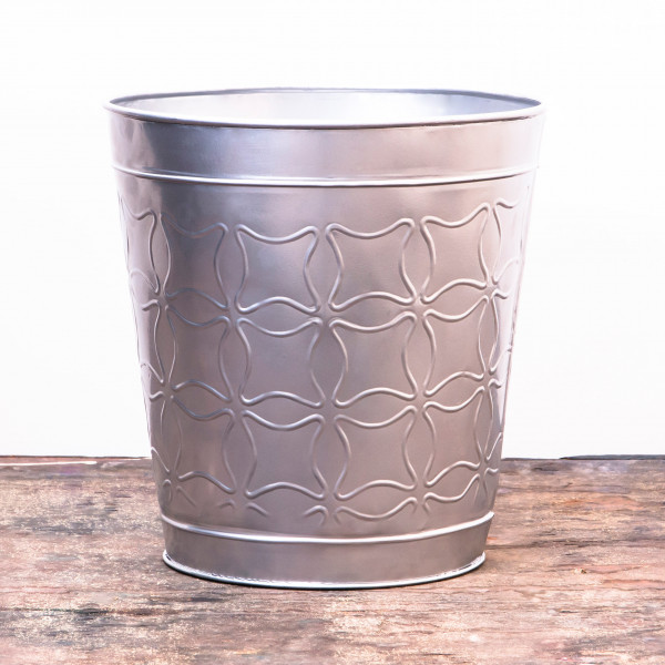 Embossed Butterfly Waste Bin 9.5 x 10 inches
