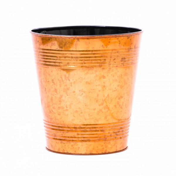 Embossed Golden Waste Bin 9.5 x 10 inches