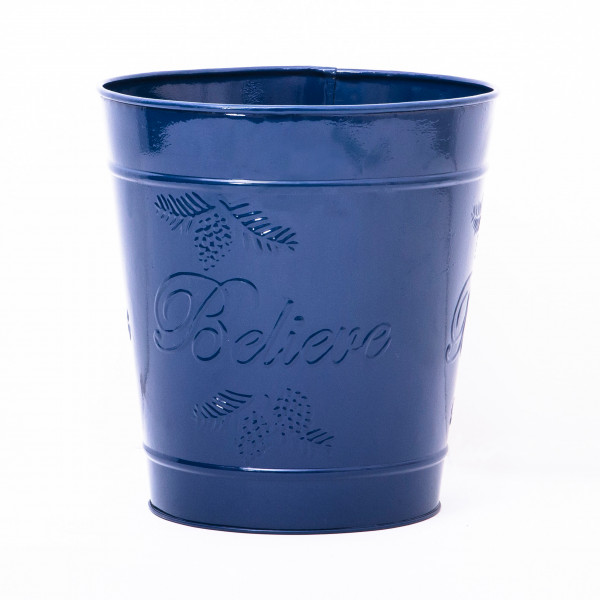 Embossed BlueDelight Waste Bin 9.5 x 10 inches
