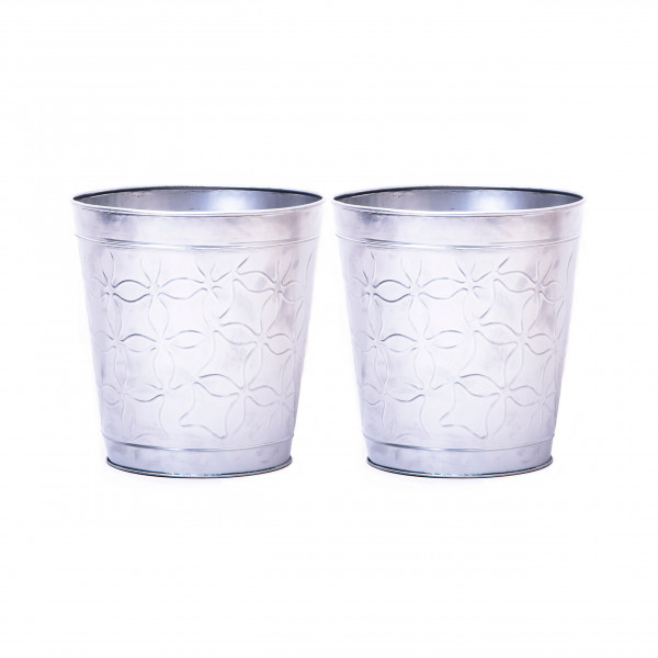 Embossed Butterfly Waste Bin 9.5 x 10 inches set of 2