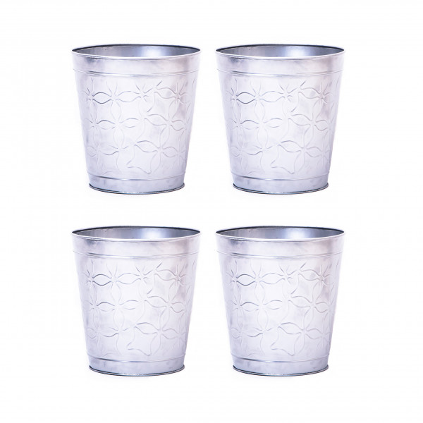 Embossed Butterfly Waste Bin 9.5 x 10 inches set of 4