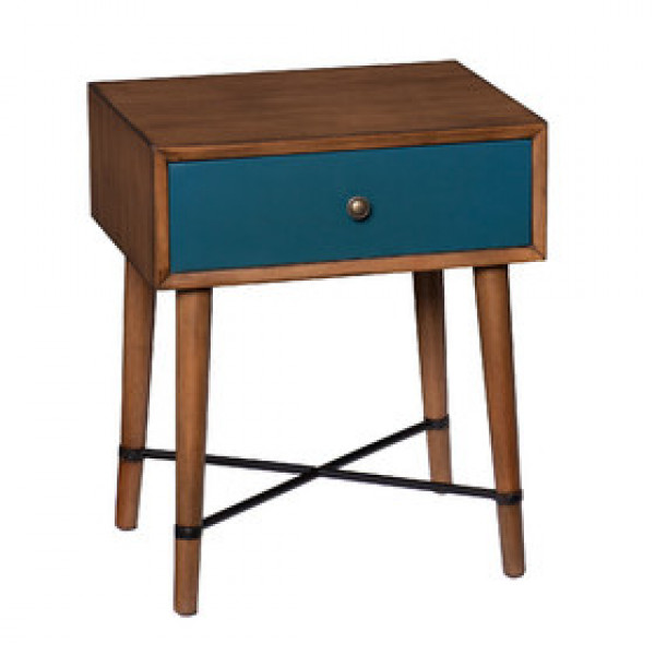 Rajshree Wooden Single Drawer Stool