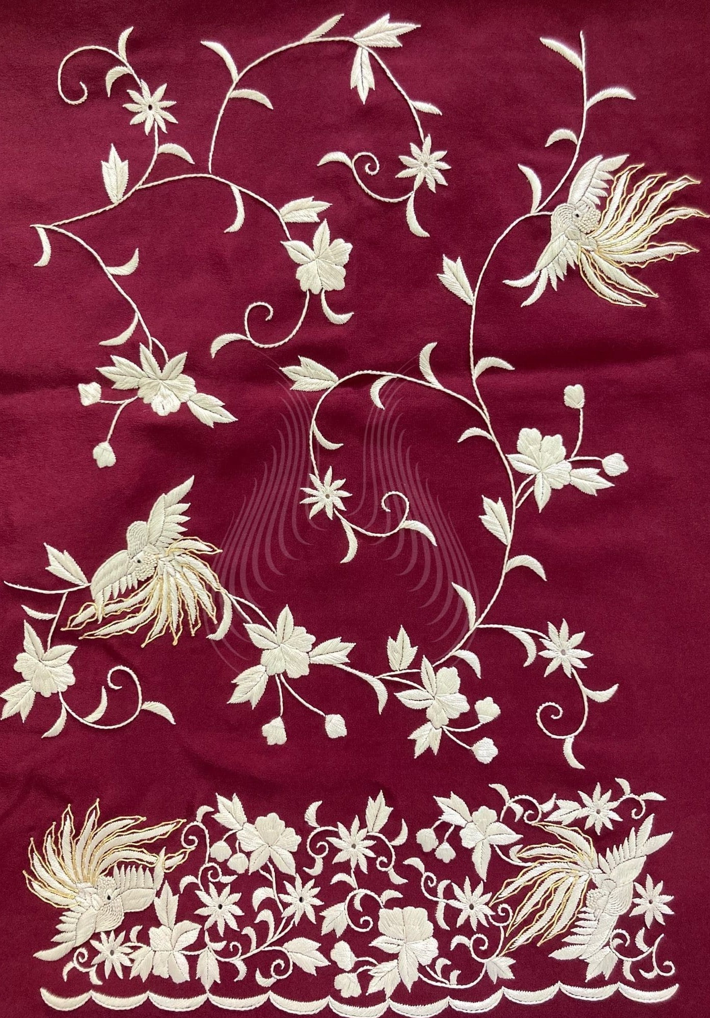 Bird of Paradise Motif with flowers (G107)