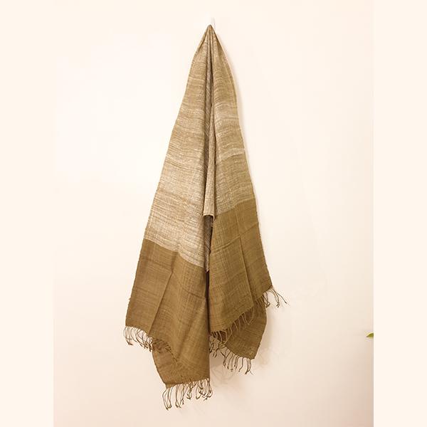 Handcrafted onion skin Eri Silk Stole
