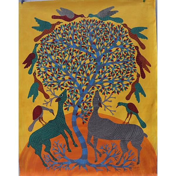 Vijay Shyam Tribal Gond Painting (48 x 36)''
