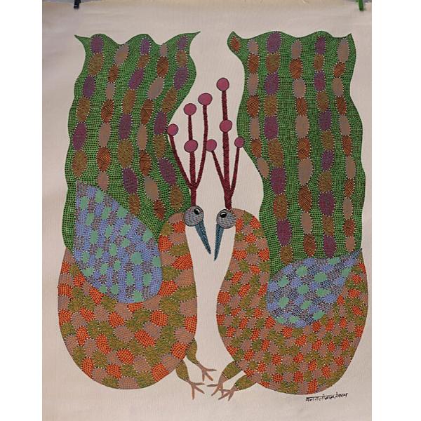 Vijay Shyam Tribal Gond Painting  (36 x 24)''