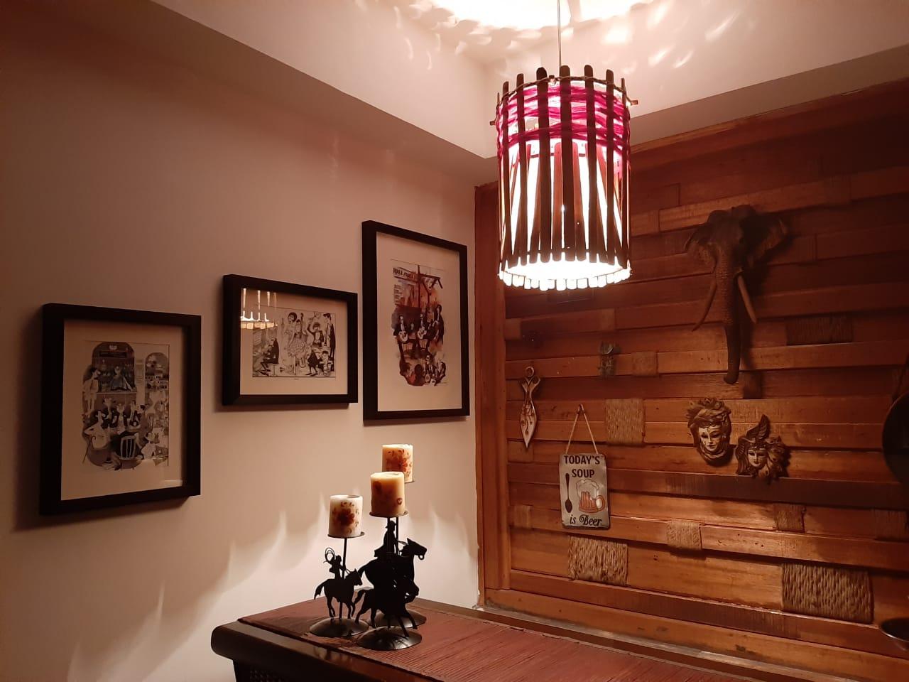 Slat hanging lamp
