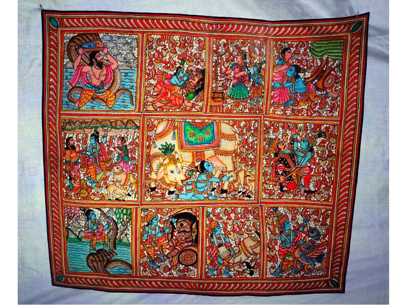 Krishna Leela Tholubommalata Painting
