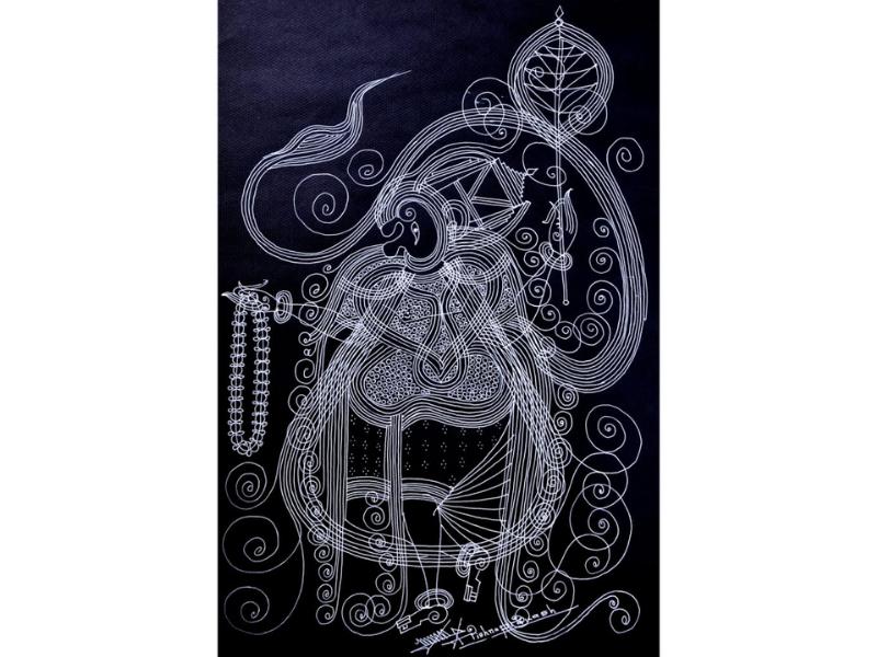 Lord Hanuman (Line Art)