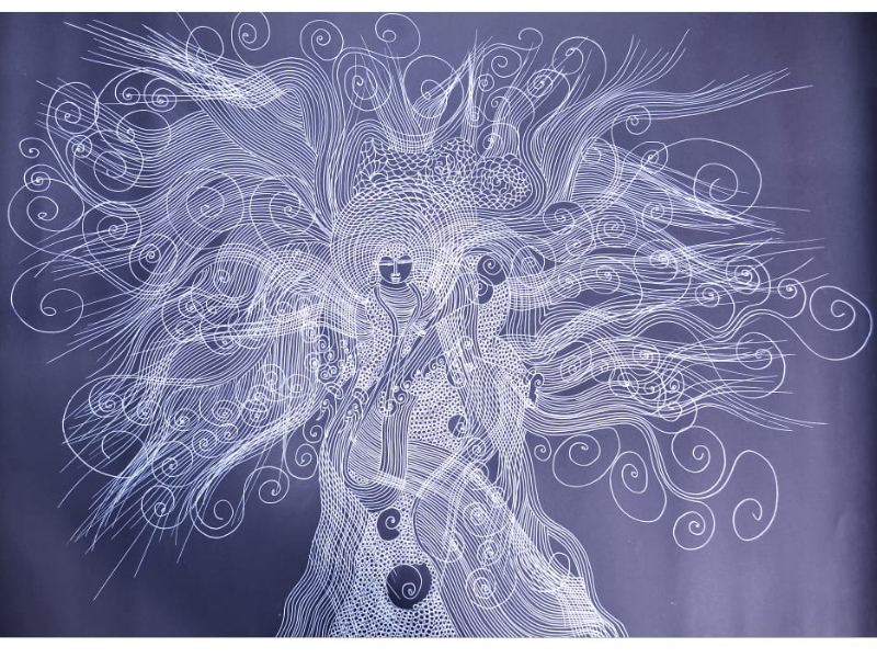 Shakti Shanti Tree of God (Line Art)