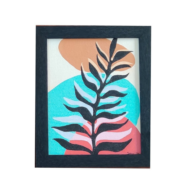 ABSTRACT TROPICAL PAINTING - 8