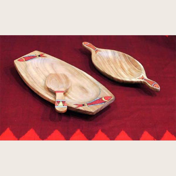 Akushmoni wooden platter small