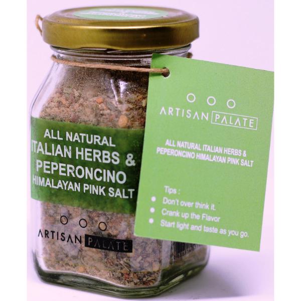 All Natural Italian Herbs & Peperoncino Himalayan Pink Salt