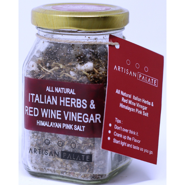 All Natural Italian Herbs and Red Wine Vinegar Himalayan Pink Salt