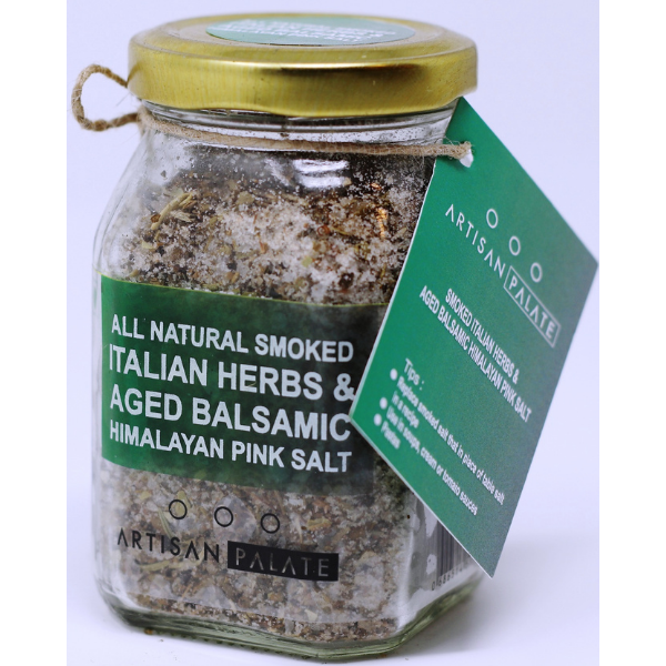 All Natural Smoked Italian Herbs, Aged Balsamic Himalayan Pink Salt